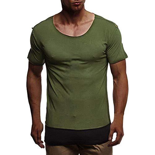 iHPH7 T-Shirt Men Slim-Fit Short-Sleeve Crewneck T-Shirt Men Summer T-Shirt Short Sleeve Crew Neck Muscle Basic Top Slim Fit Tee M 4- -