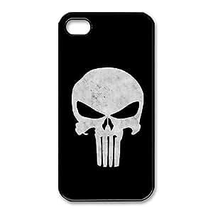 iphone4 4s phone case Black for punisher skull - EERT3408084