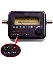 ZX900 Digital Easy Satellite TV Signal Finder with 22KHz + V/H Indicator Lights for Bell, Telus, Shaw, Free to Air, FTA,DirecTv, Dish Network