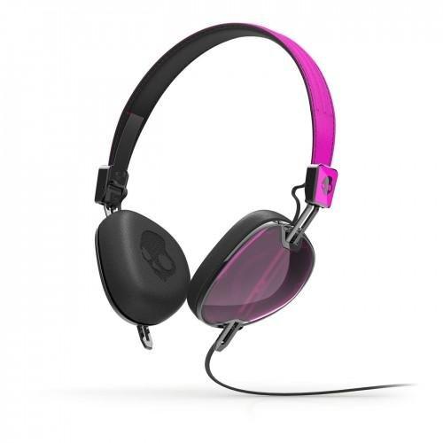 Skullcandy Navigator On-ear Headphone with Mic3, Hot Pink