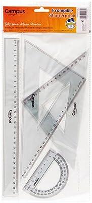 Campus University 600382 - Pack de 4 reglas: Amazon.es: Oficina y papelería