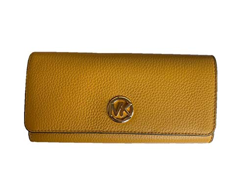 (Michael Kors Fulton Flap Continental Leather Wallet - Marigold)