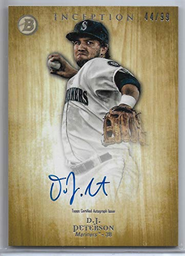 2014 Topps Inception Baseball D.J. Peterson Autograph Prospect Card # 44/99