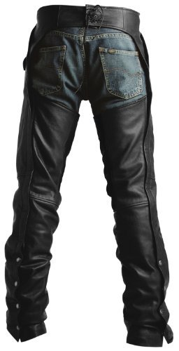 Pokerun Outlaw 2.0 Mens Black Leather Chaps - 3X-Large