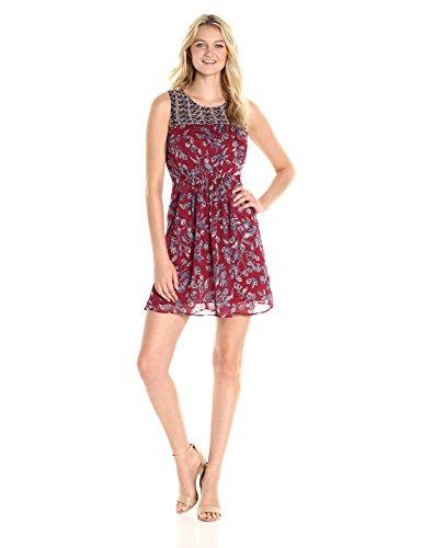 mixed print dress - 6