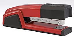 Bostitch Epic  All Metal Antimicrobial Stapler with Integrated Staple Remover and Staple Storage (B777-RED)