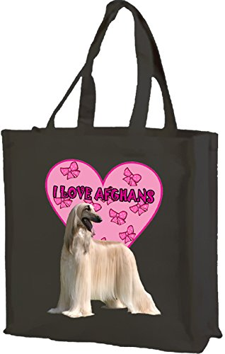 Shopping Afghans I Bag Love tote with Cotton Black Gusset qIq7w4nfHx