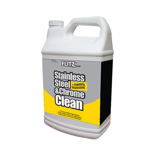 Flitz SP 01510 Stainless Steel and Chrome Cleaner with Degreaser, 1-Gallon, Small