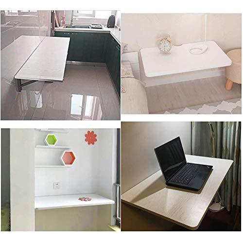 XYFL Drop Leaf matbord, vitt fällbord, robust väggbord för små utrymmen, fällbord av trä, stabil (färg: Vit, storlek: 40 cm x 60 cm), 40 cm × 60 cm