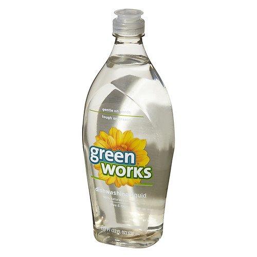 Green Works Dishwashing Liquid - 22 oz - Free & Clear - 2 pk
