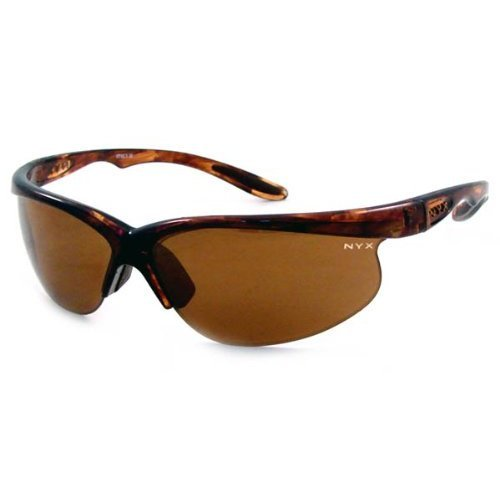 NYX Classic Competition Sleek Style Sunglasses (Dark Amber Lens/Brown Tort - Nyx Glasses