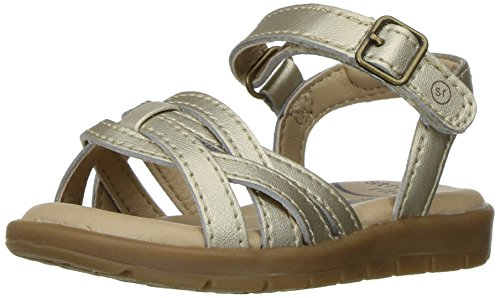 Stride Rite Millie Sandal (Toddler/Little Kid), Gold, 8 M US (8 Kids Footwear Sandals)