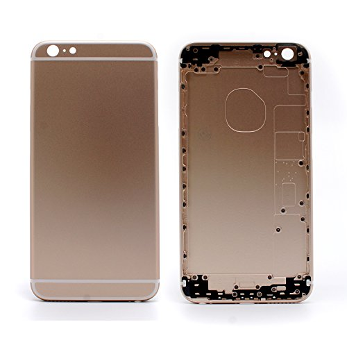 COHK Replacement Metal Back Housing Metal Alloy Back Cover Replacement for iPhone 6S Plus 5.5'' (Gold)