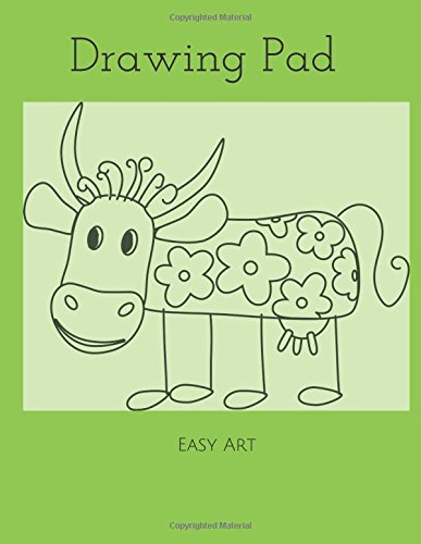 Drawing Pad: Silly Cow Sketchbook, 100 Blank Pages, Extra large (8.5 x 11) White paper, Sketch, Draw and Paint ebook