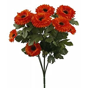 UV Protected outdoor rated Mini Aster Bush - ORANGE 52