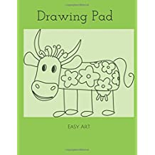 Drawing Pad: Silly Cow Sketchbook, 100 Blank Pages, Extra large (8.5 x 11) White paper, Sketch, Draw and Paint