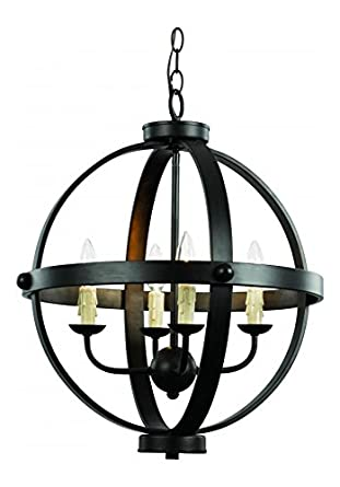 4Lt Chandelier Rustic Axel Orb Ideas