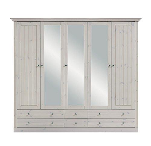 Steens Kleiderschrank Monaco Landhaus, 5 Türen, 228 x 201 x 60 cm (H ...