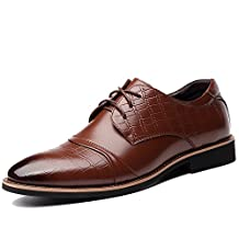 OUOUVALLEY Men's Dress Oxfords Leather Tuxedo Shoes0518