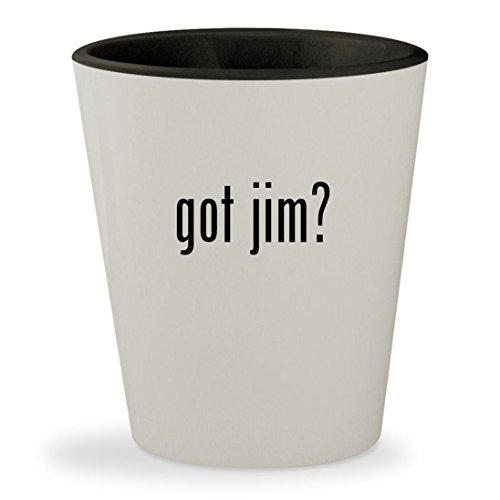 got jim? - White Outer & Black Inner Ceramic 1.5oz Shot - Jim Glasses Harbaugh