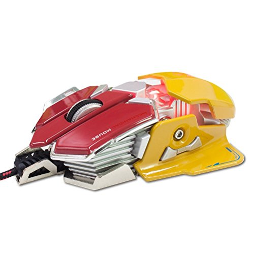 Gaming Mice ,YCCTEAM Optical USB Wired Professional Gaming Mouse Programmable 10 Buttons RGB Breathing LED Mice PC and Laptop ¨C Red and Yellow