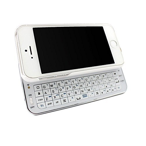 CellMACs iPhone 4/iPhone 4S Sliding Bluetooth Keyboard Case and Stand Combo - WHITE (Bluetooth Iphone 4s Keyboard)