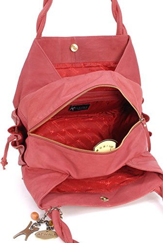 Red Leather Tote Collection Bag Catwalk Caz wRf4xRq