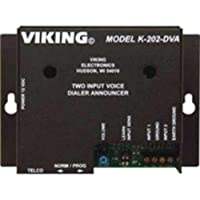 VIKING ELECTRONICS K202DVA 2 INPUT ALARM DIALER WITH DIGITAL ANNOUN