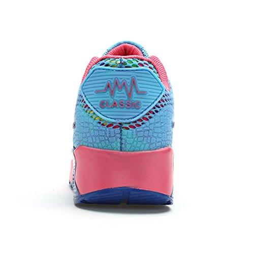 Pink Blau Laufschuhe Schnür Damen House Freizeit Turnschuhe Sneaker u Fitness Sport Peggie AwPZqxEz