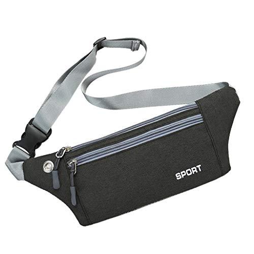 SMALLE ◕‿◕ Fanny Packs for Women, Sports Running Waist Pack, Multifunction Belt Bag, Ultra-Thin, Light, Suitable for Phone Black