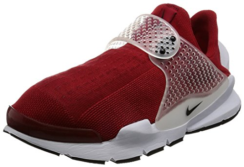 NIKE Mens Sock Dart Gym Red/Black-White Fabric Size 11