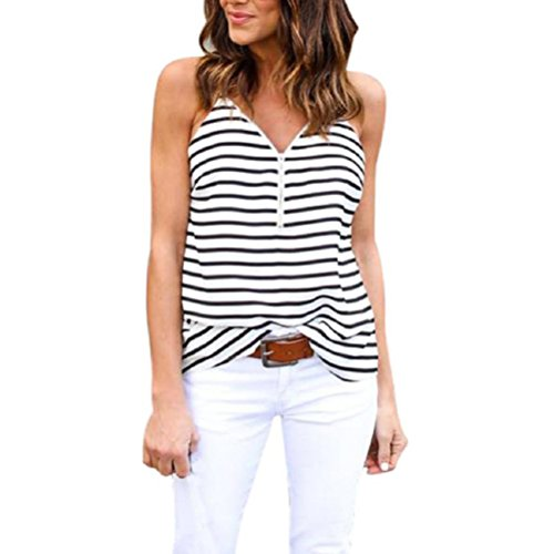 Detail Cropped Jacket - Women's Vest,Neartime Loose V-Neck Striped Short Camisole Ladies Tops (XL, White)
