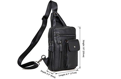Genda 2Archer Leder Brusttasche Modische Crossbody Tasche