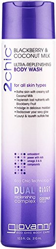 Giovanni 2chic Ultra Replenishing Body Wash, Blackberry and Coconut Milk, 10.5 Fluid (Giovanni Cosmetics Hair Body Wash)