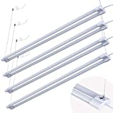 4' LED Shop Light for Garage Workbench Ceiling, Double Integrated LED Tube Lights, 4ft 40Watt 4000LM Lighting Fixture, 80 Watt Fluorescent Equivalent (4PACK, 6500K Day White)