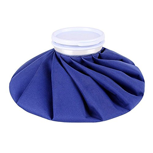 "Ice Cold Pack Ohuhu 9"" Reusable Ice Bag Hot Water Bag for Injuries, Hot & Cold Therapy and Pain Relief, Blue"