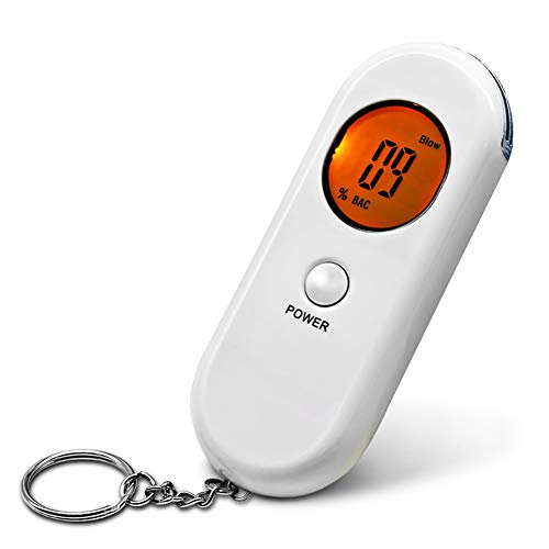 Led Alcohol Breath Tester - HJJH Portable Breath Alcohol Tester, Portable Breath Alcohol Tester,Professional Digital Breathalyzer LED Screen with Recovery Function (Without Battery)