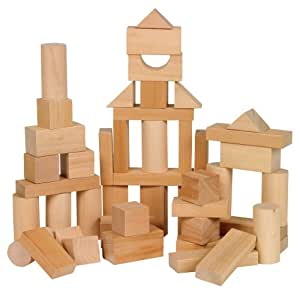 Small World Toys Ryan's Room Wooden Toys - Bag O' Blocks, Natural Wood