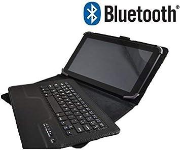Theoutlettablet® Funda con Teclado Bluetooth Extraíble para Tablet Lenovo Tab 4 10 de 10.1 Pulgadas HD Color Negro: Amazon.es: Electrónica