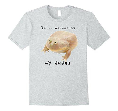 Mens It is Wednesday My Dudes - Frog Meme Shirt Medium Heather Grey