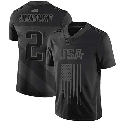 Greater Half 2nd Amendment Football Jersey Blackout Edition (2XL) (The Best Football Jersey)