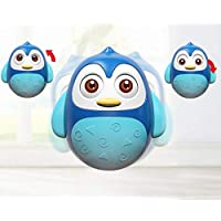 Vibgyor Vibes Push and Shake Wobbling Rolly Polly Penguin Tumbler Musical Egg Toy for Early Years of Kids(Random Colour Will be Sent)