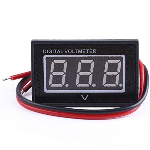 GEREE 0.40'' Bright Red LED Digital Voltmeter DC 3-30V Waterproof Voltage Meter (Led Digital Volt Panel Meter)