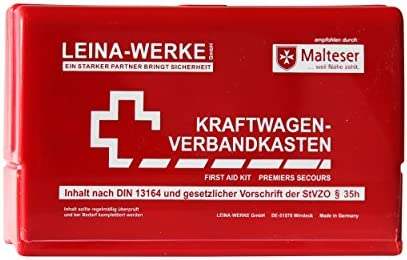 Leina Werke 10050 Kfz Verbandkasten Leina Star Ii Rot Weiß Auto