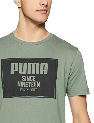 Puma T T shirt Tee Basic Wreath Block Rebel Laurel Homme xIqwrUI4nS