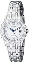 Citizen Women's 'Diamond' Quartz Stainless Steel Casual Watch (Model: EW2360-51A)
