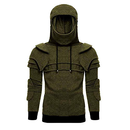 Rider Visor Romano 3d Pullover Cavaliere Wind Cosplay Hooded Helmet Verde Mask Kasonj xXpzqwRp