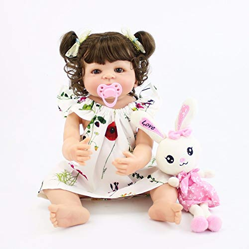 NPK collection 55cm Full Silicone Vinyl Body Reborn Baby Girl Lifelike 22inch Newborn Princess Bebe Alive Dolls Lovely Birthday Present Waterproof