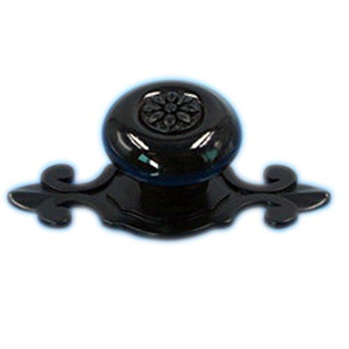 Tangpan (TM) Ceramic Door Knobs Black Zine Alloy Base Handle Color Black Pack of 8