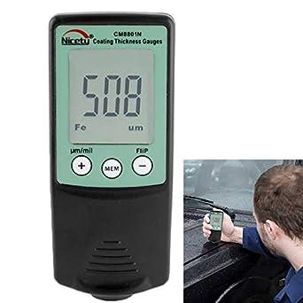 Medidor de espesor de recubrimiento NICETY para la medición de recubrimientos no conductores eléctricamente sobre metales no ferrosos (CM8801N).